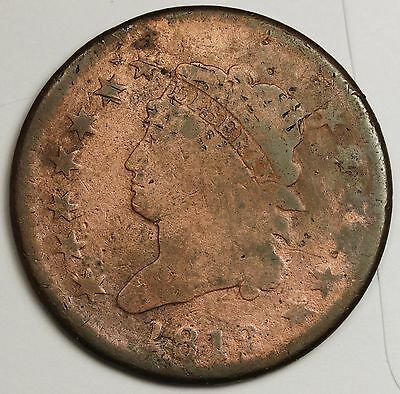 1812 Large Cent.  Better Grade. 105689