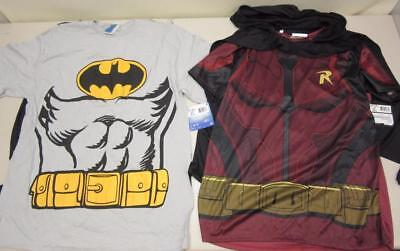 Rubie's Costume Men's Batman and Robin Size Large Shirts With Capes Halloween