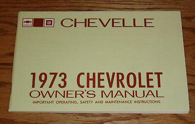 1973 Chevrolet Chevelle Owners Operators Manual 73 Chevy