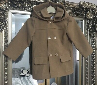 Tutto Piccolo, Camel Colour Boys Coat, BEAUTIFUL PERFECT ITEM, 24 Months.