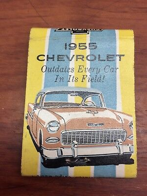 Vintage 1955 Chevrolet Advertising Matchbook Thompson Motors Dillon, SC. Chevy