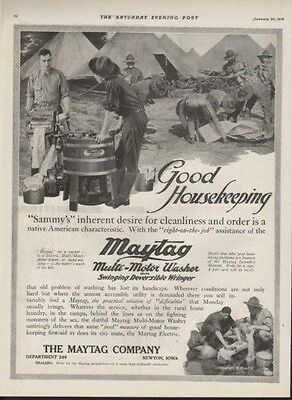 1918 Maytag Clothes Washer Camp Teepee Ranger Newton Ad9571