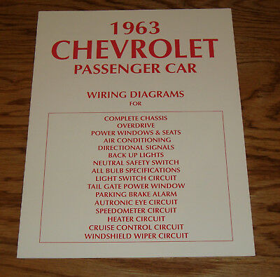 1963 chevrolet passenger car wiring diagrams complete chassis 63 chevy
