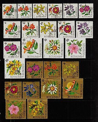 BURUNDI #141-156; C17-C25 Mint & Used COLORFUL FLOWERS 1966 Set of 25 SCV $23.60
