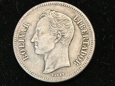 T2: World Coin Venezuela 1919 2 Bolivares