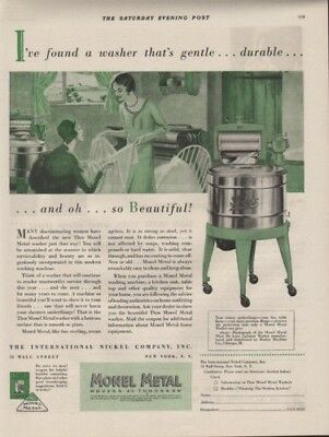 1920 Monel Metal Washing Machine Home Decor Laundery Ad9548