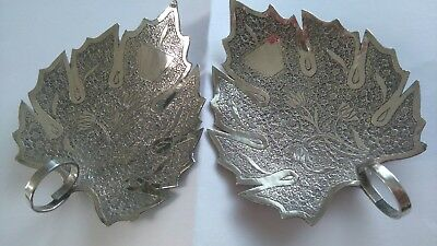 Vintage Pair Of Solid Silver Trays.nice Items.perfect.