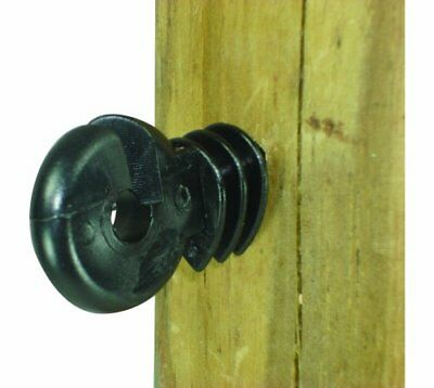 Field Guardian Wood Post Screw-In Ring Polyrope Insulator, Black New