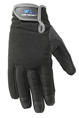 Wells Lamont Synthetic Leather Work Gloves, High Dexterity, Medium, 2 Pair Pack