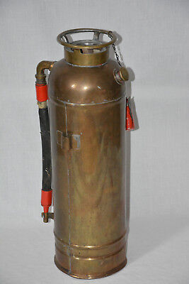 Feuerlöscher Antik Kupfer Messing copper fire extinguisher Asia China Japan ?