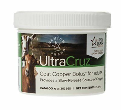 UltraCruz Goat Copper Bolus for adults, 25 count x 4 grams New