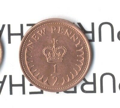 GB DECIMAL OLD 1/2P HALF PENNY PENCE COINS - SELECT DATES  - 1971 to 1984