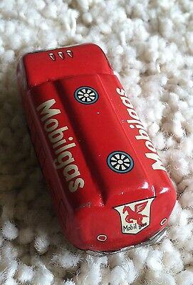 Vintage 1950's Mobilgas Tin Friction Truck Elvin Made in Japan