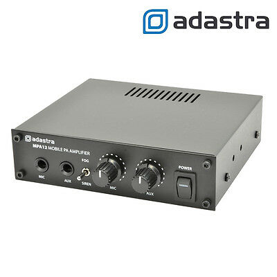 Compact Mobile PA Public Address Amplifier For Broadcasting Car Boat Amp Siren