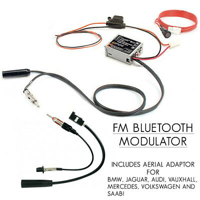 FAKRA Bluetooth FM Modulator Vauxhall Ford Audi BMW Car Music Streaming Adaptor