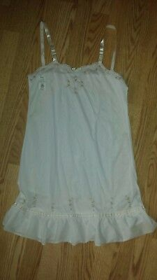 Vintage Girl's Size 14 Nylon Slip Petticoat Rosebud New Old Stock Nwt Never Worn
