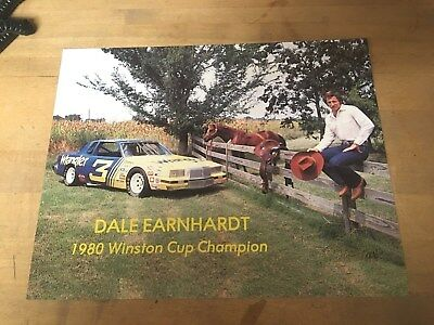 1980 Dale Earnhardt Winston Cup Champion Sign Wrangler Jeans Store Advertising