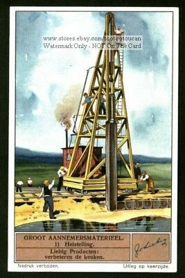 Piling Driver Heavy Equipment 1930s Trade Ad Card