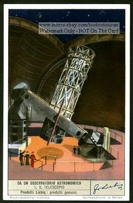 Telescope  Astronomy Science Planets Solar System 65+ Y/O Trade Ad Card
