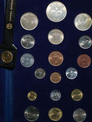 Uncirculated 1962-1963 Israel 18 Coin Set 250 & 500 Pruta Silver Free S/H