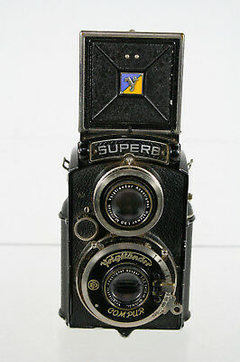 Antique Superb Compur Voigtlander Lensebox Camera
