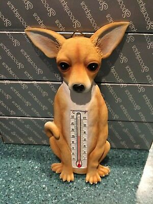 NIB Spoontiques CHIHUAHUA Dog Thermometer Wall Figurine Decoration LAST ONE!