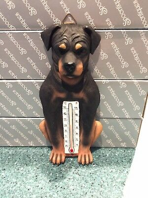 NIB Spoontiques ROTTWEILER Dog Thermometer Wall Figurine Decoration LAST ONE!
