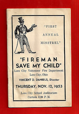 Lore City, Guernsey County, OH, Ohio FIRST ANNUAL MINSTREL, 1953, advertising
