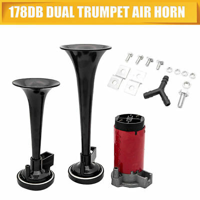12V 178DB Dual Trumpet Air Horn With Compressor For Truck Mega Train Motorcycle