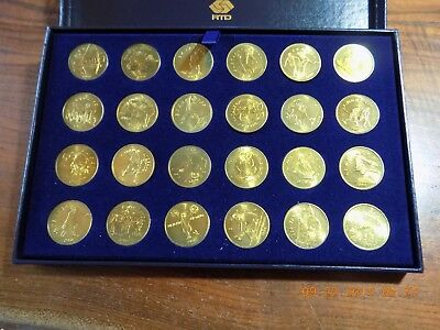 1984 Los Angeles XXIII Olympics 24-Piece Transportation Token Collection - BU