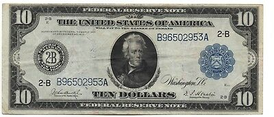 Nice Circulated 1914 $10 Federal Reserve Note