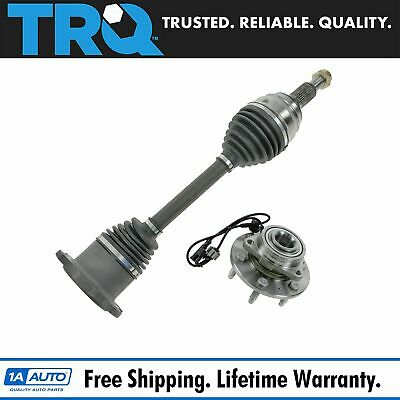 2 Piece Steering Kit Wheel Hub & Bearing Assembly w/ CV Axle Shaft for Chevy GMC