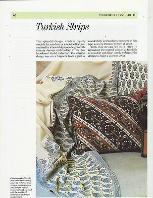 Turkish Stripe Embroiderers' Guild  Tapestry Needlepoint Chart