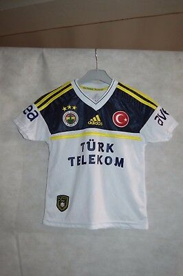 Maillot De Foot Adidas Fenerbahce Taille 7/8 Ans 128 Cm  Jersey Soccer Turc