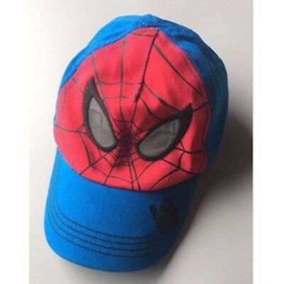 Kid Children Boy Spiderman 100% Cotton travel Blue Sun Baseball Golf Hat Cap