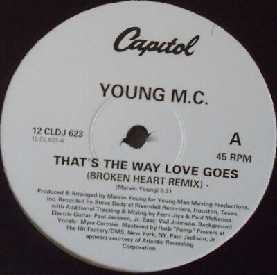 "YOUNG MC - Thats The Way Love Goes ~ 12"" Single PS PROMO"