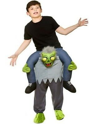 Child Carry Me Zombie Mascot Fancy Dress Costume Halloween Alien Kids Boys Girls