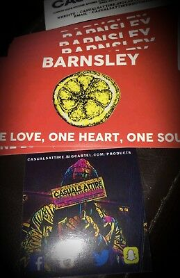Barnsley One Love 10x5cm 25 pack of Football Ultras Stickers Brand New.