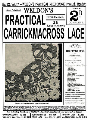 Weldon's 2D #200 c.1901 Practical Vintage Instructions for Carrickmacross Lace