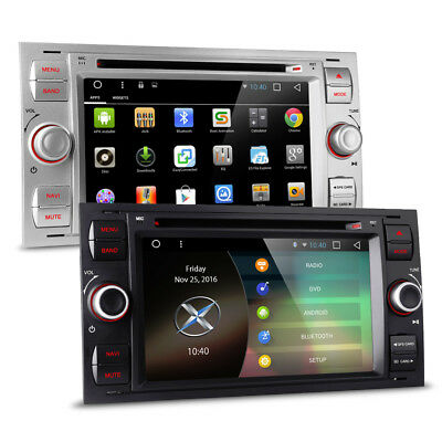 """7"""" Android HD Touch Screen Car WiFi GPS Bluetooth DVD USB SD Aux Stereo For Ford"""