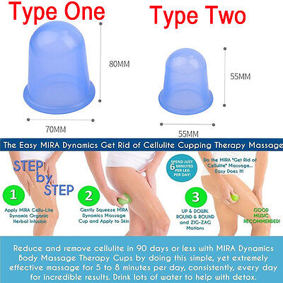 NEW Silicone Massage Cup Anti Cellulite Suction Lifting Vacuum Body Face Cupping