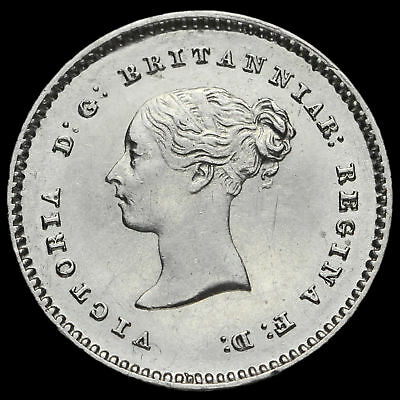1838 Queen Victoria Young Head Silver Maundy Twopence