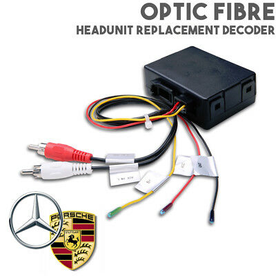 Optic Fibre Headunit Car Stereo Replacement Interface For Mercedes & Porsche