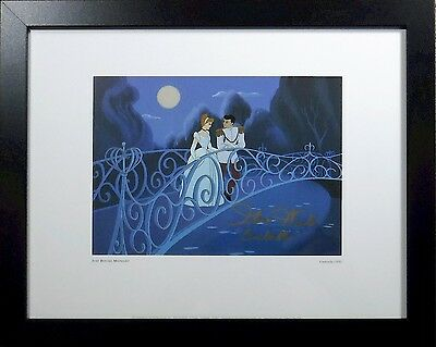 "SOLID Wood FRAME hand signed ""REAL"" Cinderella 1950 Disney Voice Ilene Woods"