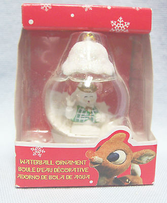 Rudolph Red-Nosed Reindeer Waterball Burl Ives Christmas Ornament  by Enesco