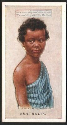 Australia - Young Aboriginal Child With Pop-Up Image 1920s Ad Trade Card