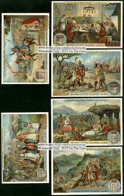 Legend Of King Arthur England Camelot Set Of SIX NICE c1909 Trade Ad Cards
