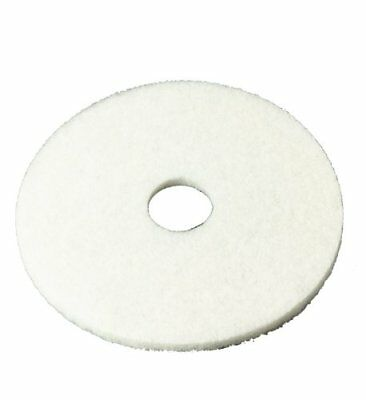 "3M White Super Polish Pad 4100, 13"" Floor Pad, Machine Use (Case of 5) New"
