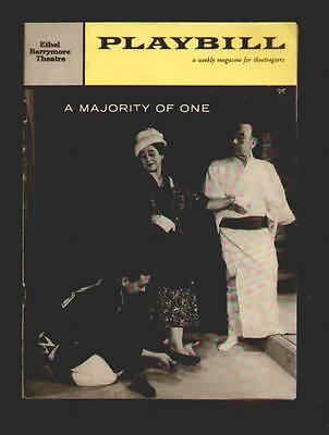 "1959 Playbill magazine and program for the Play ""A majority of one"" EX condition"