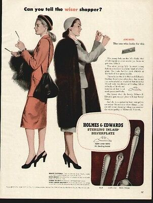5 1940's Holmes & Edwards Inlaid Silverplate ads (All show models of Cuttlery)
